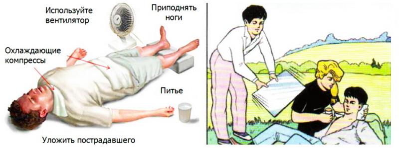 Тепловой удар - первая помощь